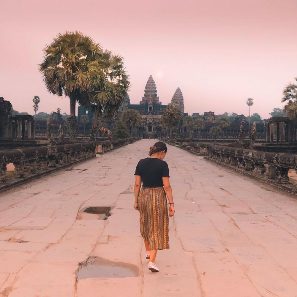 Les temples d'Angkor sans personne