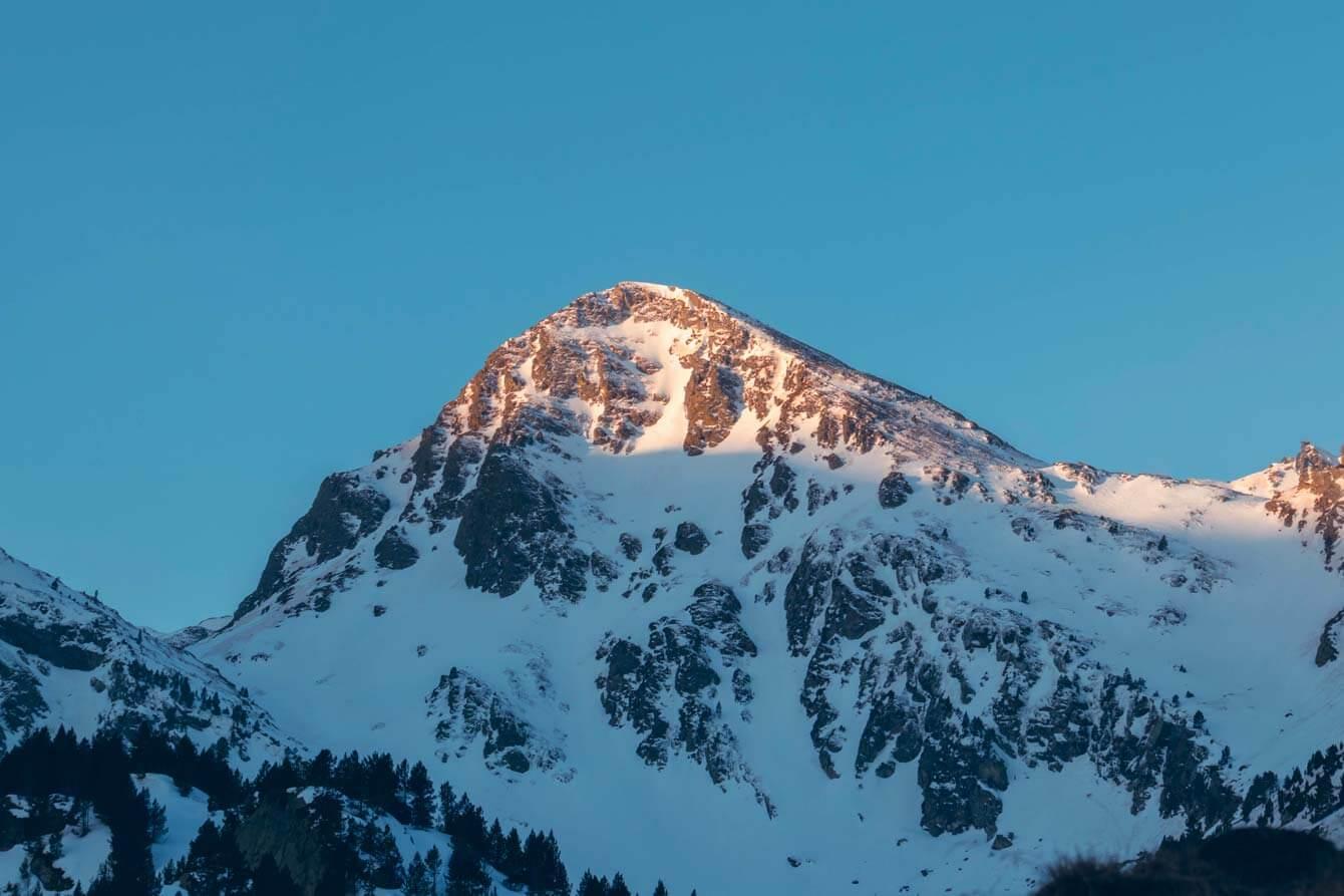 Sommet d'Ariège à la golden hour
